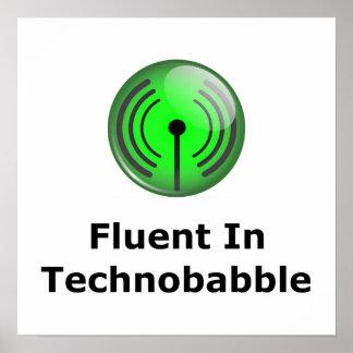 Fluent In Technobabble Poster