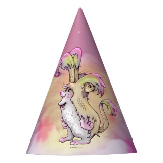 FLUFF ALIEN MONSTER CARTOON Party Hat