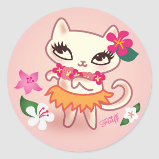 Fluff Hula Cat Sticker