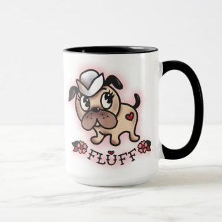 Fluff Monty the Sailor Pug Mug