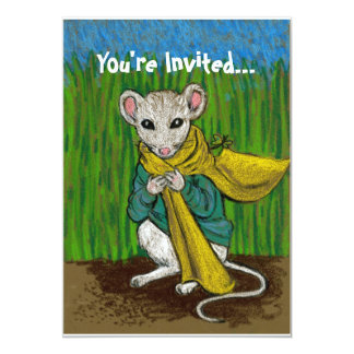 Fluffim Mouse Invitation Card