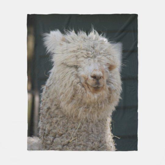 Fluffy Alpaca Fleece Blanket
