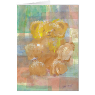 Fluffy Bear Teddy Bear CricketDiane Art Card