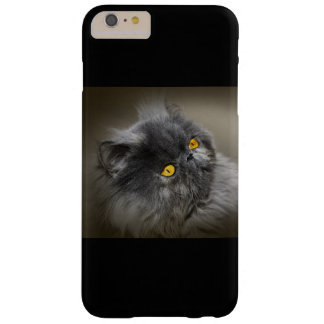 Fluffy Black Cat with Orange Eyes Barely There iPhone 6 Plus Case