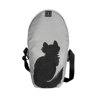 Fluffy Black Kitty Commuter Bag