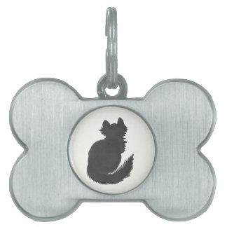 Fluffy Black Kitty Pet Name Tag