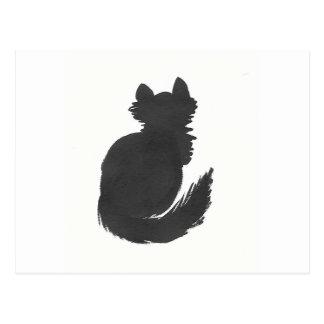 Fluffy Black Kitty Postcard