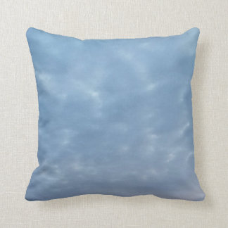 Fluffy Blue Cloud Design Throw Pillow