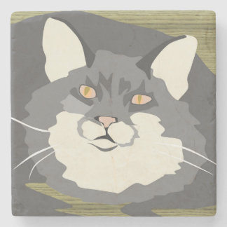 Fluffy Cat Coaster
