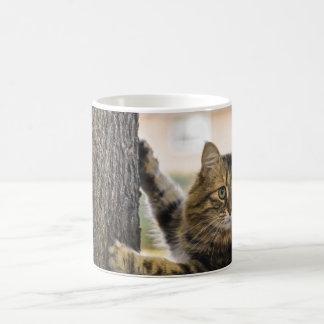 Fluffy cat mug