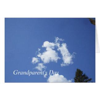 Fluffy Clouds in Blue Sky Card