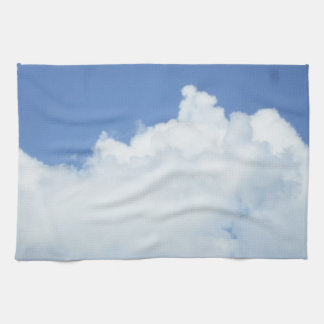 Fluffy Clouds in Blue Sky Kitchen Towel