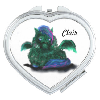 Fluffy Dragon Pony Compact Mirrors