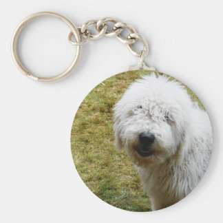 Fluffy Frizzy Bad Hair Day Dog Keychain