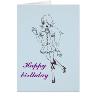 Fluffy greeting cards. card