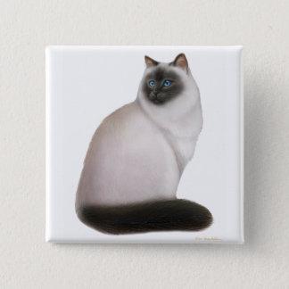 Fluffy Himalayan Cat Pin