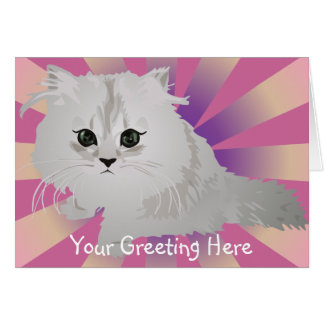 Fluffy Kitten Greeting Card