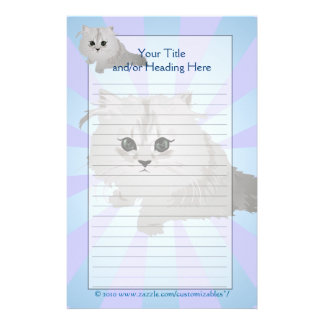 Fluffy Kitten Stationery