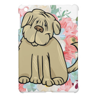 Fluffy Large Dog with Flowers Case For The iPad Mini