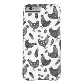 Fluffy Layers Black and White Chickens Phone Case