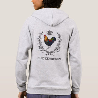 "Fluffy Layers ""CHICKEN QUEEN"" Women's Hoodie"