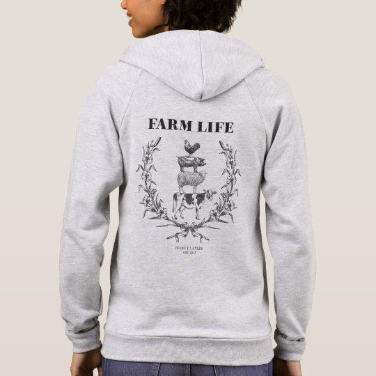 "Fluffy Layers ""FARM LIFE"" Womens Hoodie"