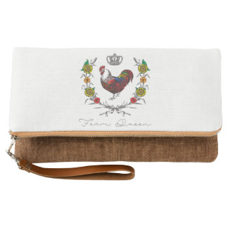 "Fluffy Layers ""Farm Queen""  Fold over Clutch"