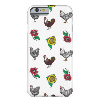 Fluffy Layers Hens and Sunflowers Phone Case