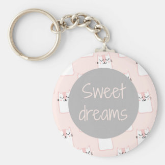 Fluffy Marshmallow Kitty in Pink | Sweet Dreams Keychain