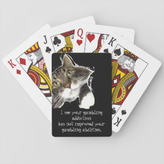 Fluffy Noticed Funny Cat Playing Cards, Standard Poker Deck
