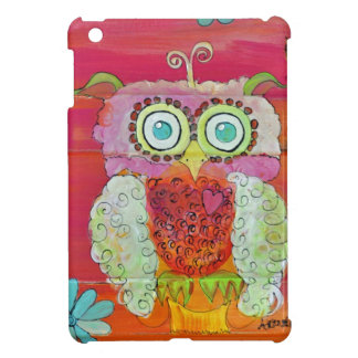 Fluffy Owl in Pinks and Oranges Ipad Mini Case