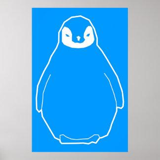 Fluffy Penguin Poster