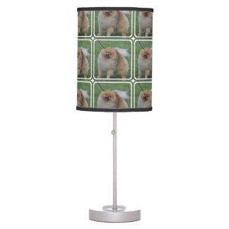 Fluffy Pomeranian Table Lamp