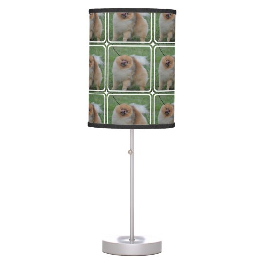 Fluffy Pomeranian Table Lamps