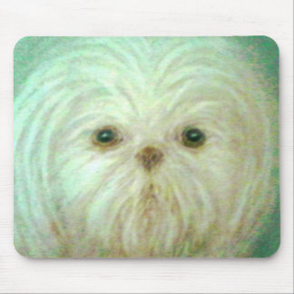 fluffy pup mouse pad