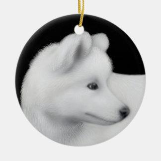 Fluffy Samoyed Dog Ornament