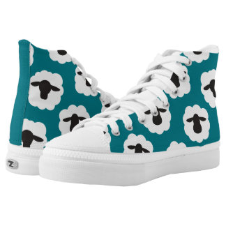 Fluffy Sheep Print {Any Color} High Tops
