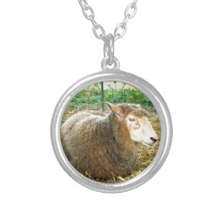 Fluffy Sheep Silver Plated Necklace