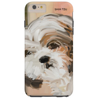 """Fluffy Shih Tzu"" Tough iPhone 6 Plus Case"