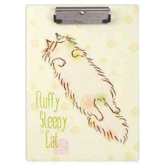 Fluffy Sleepy Cat Clipboards