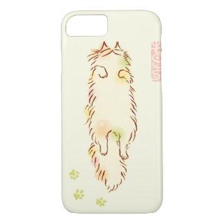 Fluffy Sleepy Cat iPhone 8/7 Case