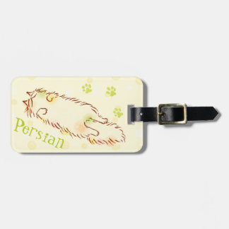 Fluffy Sleepy Cat Luggage Tag