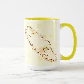 Fluffy Sleepy Cat Mug