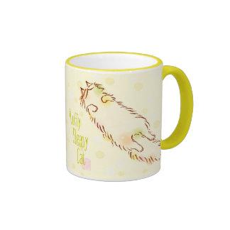 Fluffy Sleepy Cat Ringer Mug