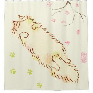 Fluffy Sleepy Cat Plum blossom