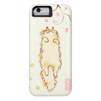 Fluffy Sleepy Cat Plum blossom iPhone 6 Case