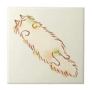 Fluffy Sleepy Cat Tiles