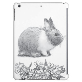 Fluffy the rabbit. Pencil drawing. Case For iPad Air