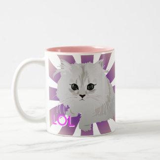 Fluffy White Cat Mug