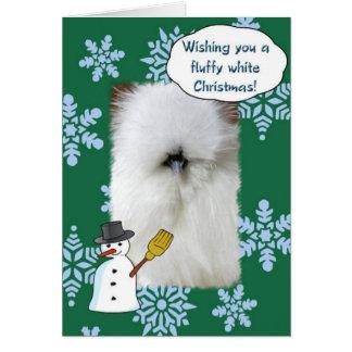 Fluffy White Christmas Card